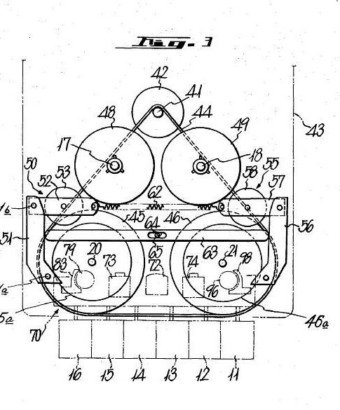 Laufwerk Patent von Sony 1972